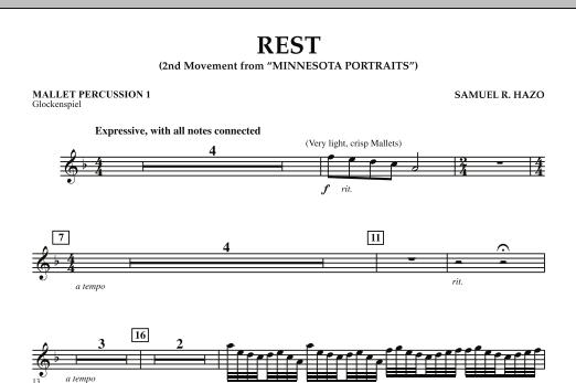 "Rest (Mvt. 2 of ""Minnesota Portraits"") - Mallet Percussion 1 (Concert Band)"