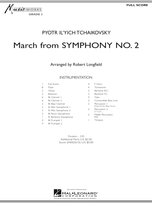 March from Symphony No. 2 - Full Score (Concert Band)