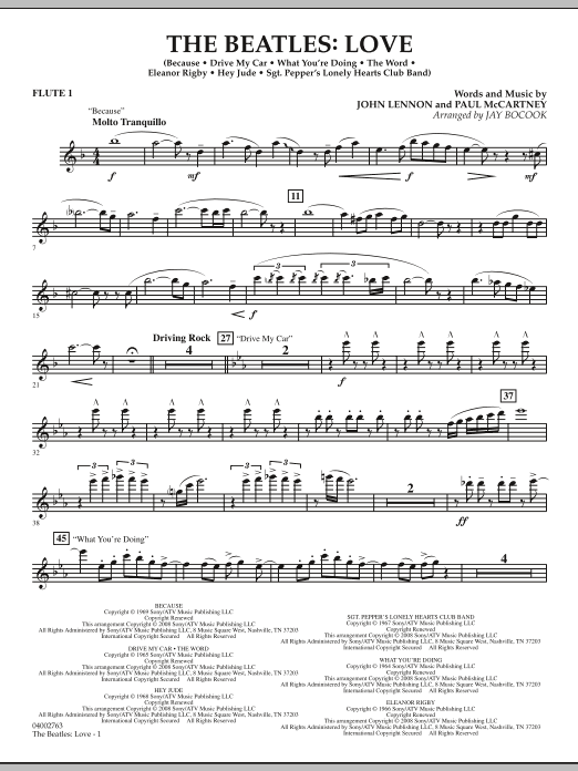 The Beatles: Love - Flute 1 (Concert Band)