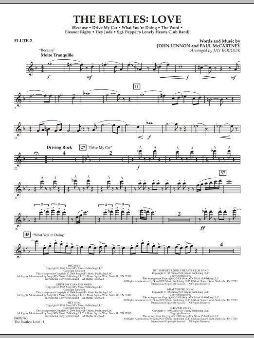 The Beatles: Love - Flute 2 (Concert Band)