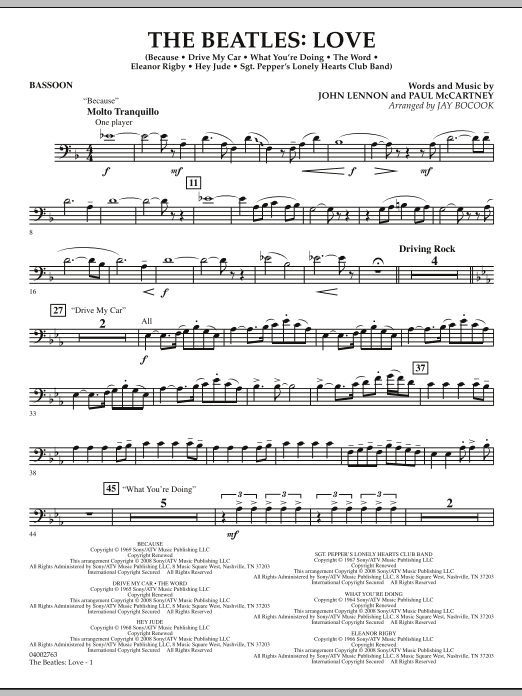The Beatles: Love - Bassoon (Concert Band)