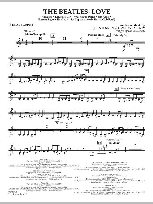 The Beatles: Love - Bb Bass Clarinet (Concert Band)