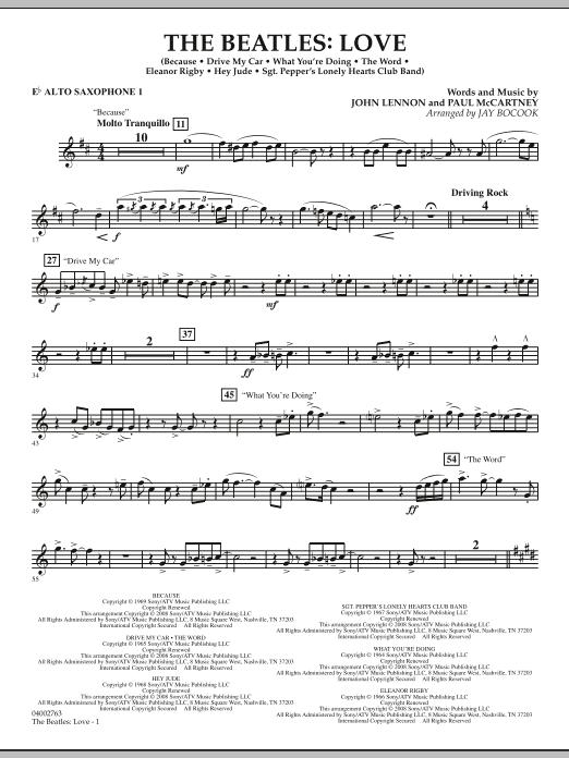 The Beatles: Love - Eb Alto Saxophone 1 (Concert Band)