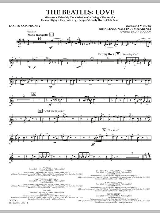 The Beatles: Love - Eb Alto Saxophone 2 (Concert Band)