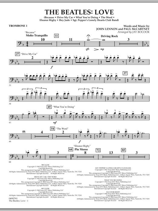 The Beatles: Love - Trombone 1 (Concert Band)