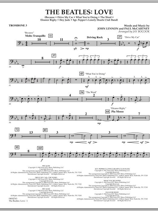 The Beatles: Love - Trombone 3 (Concert Band)