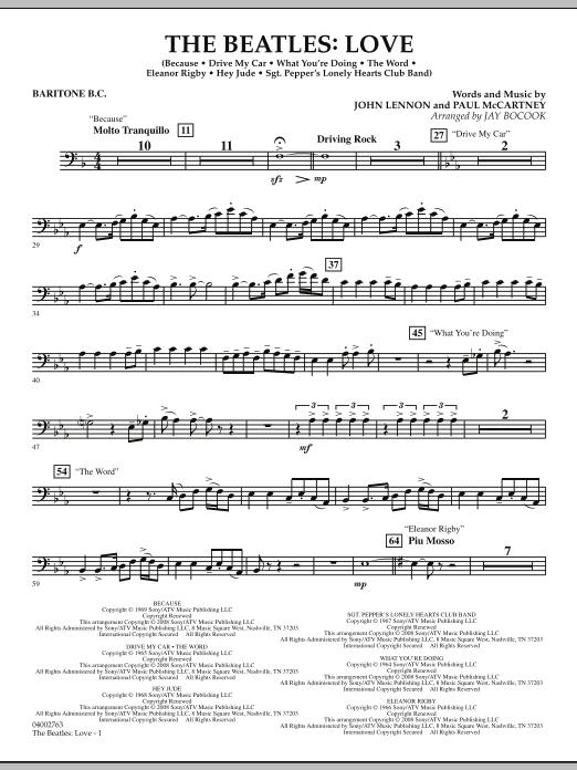The Beatles: Love - Baritone B.C. (Concert Band)
