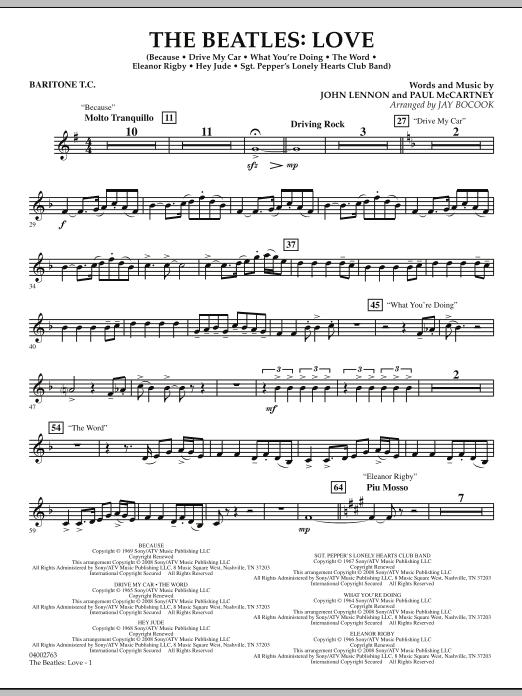 The Beatles: Love - Baritone T.C. (Concert Band)