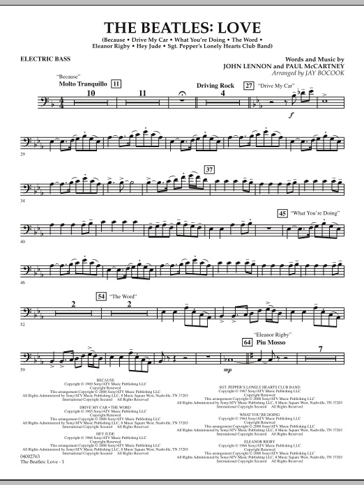 The Beatles: Love - Electric Bass (Concert Band)