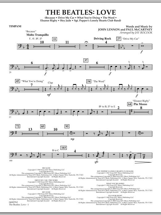 The Beatles: Love - Timpani (Concert Band)