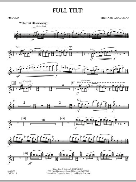 Full Tilt - Piccolo (Concert Band)
