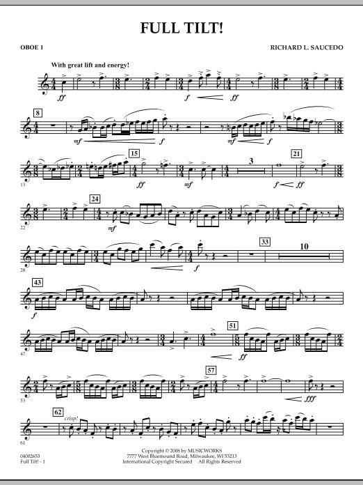 Full Tilt - Oboe 1 (Concert Band)