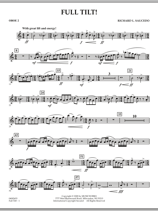 Full Tilt - Oboe 2 (Concert Band)
