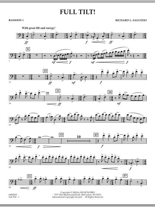 Full Tilt - Bassoon 1 (Concert Band)