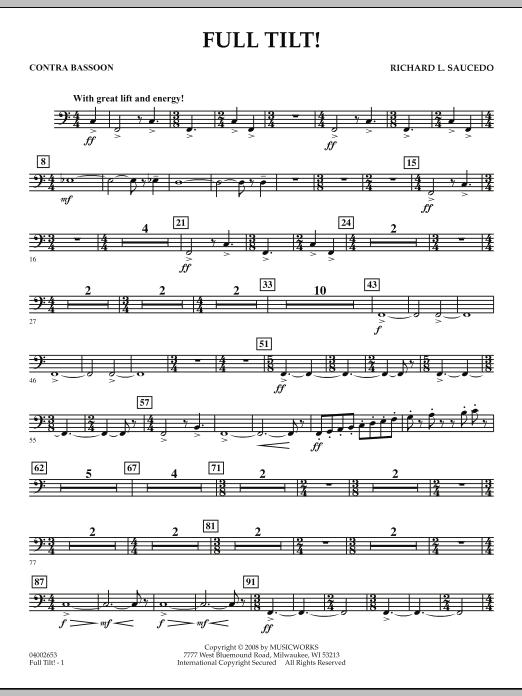 Full Tilt - Contra Bassoon (Concert Band)