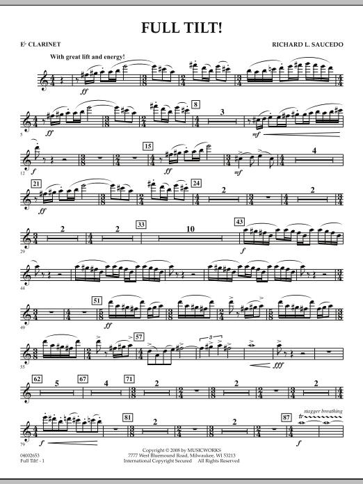 Full Tilt - Eb Clarinet (Concert Band)