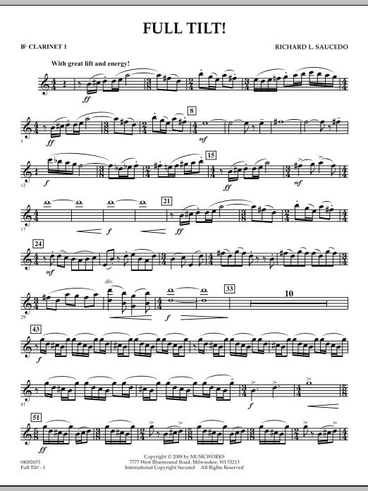 Full Tilt - Bb Clarinet 1 (Concert Band)