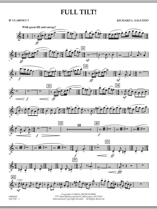Full Tilt - Bb Clarinet 3 (Concert Band)