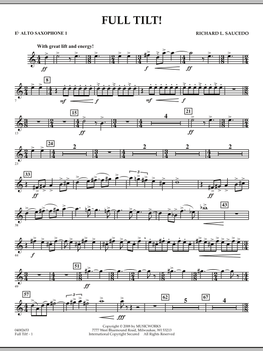 Full Tilt - Eb Alto Saxophone 1 (Concert Band)