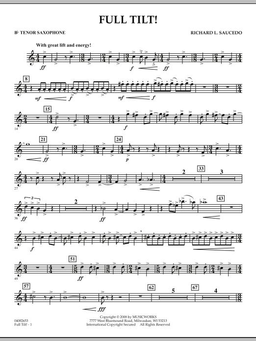 Full Tilt - Bb Tenor Saxophone (Concert Band)