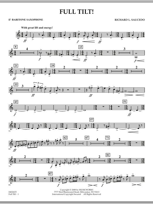 Full Tilt - Eb Baritone Saxophone (Concert Band)