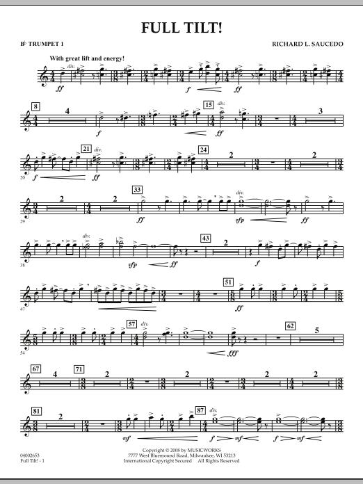 Full Tilt - Bb Trumpet 1 (Concert Band)