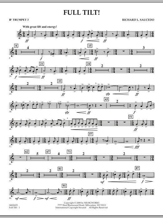 Full Tilt - Bb Trumpet 3 (Concert Band)