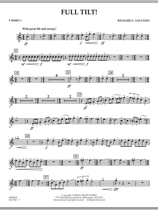 Full Tilt - F Horn 1 (Concert Band)