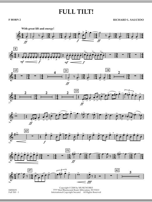 Full Tilt - F Horn 2 (Concert Band)