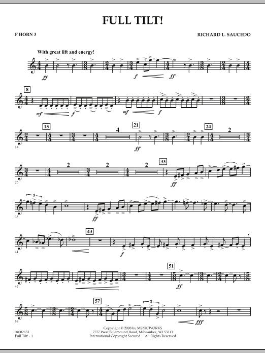 Full Tilt - F Horn 3 (Concert Band)