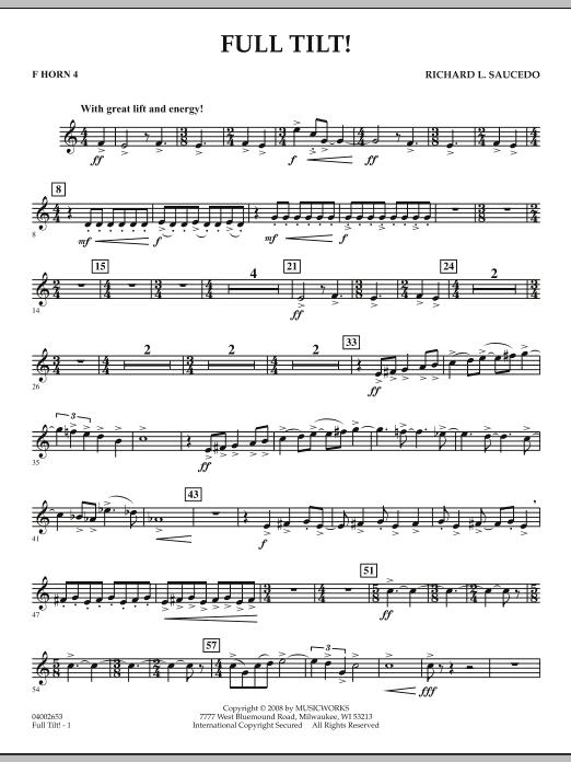 Full Tilt - F Horn 4 (Concert Band)