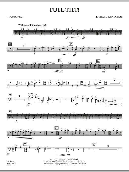 Full Tilt - Trombone 3 (Concert Band)
