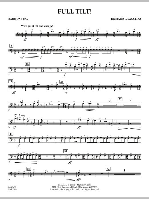 Full Tilt - Baritone B.C. (Concert Band)