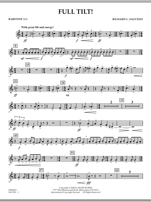 Full Tilt - Baritone T.C. (Concert Band)