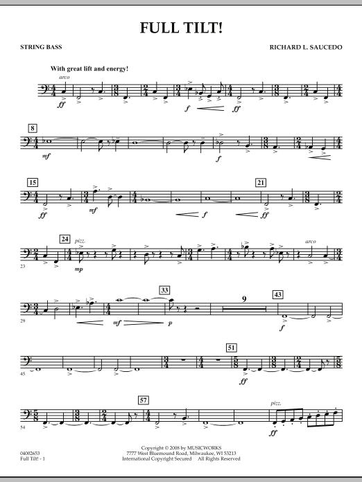 Full Tilt - String Bass (Concert Band)