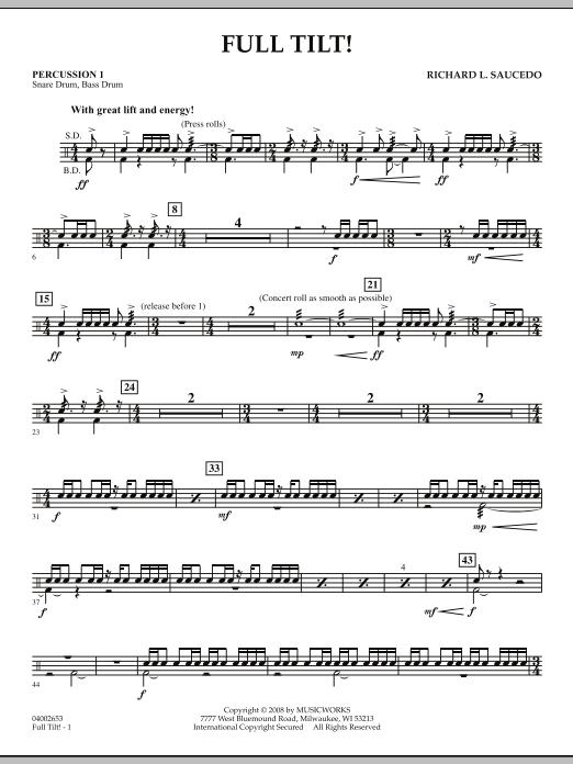 Full Tilt - Percussion 1 (Concert Band)