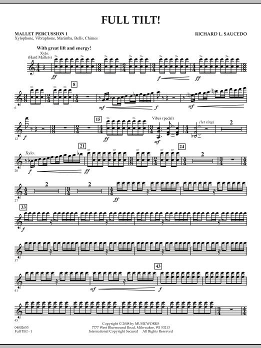 Full Tilt - Mallet Percussion 1 (Concert Band)
