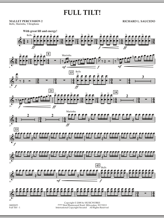 Full Tilt - Mallet Percussion 2 (Concert Band)