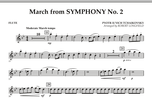 March from Symphony No. 2 - Flute (Concert Band)