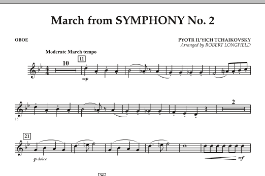 March from Symphony No. 2 - Oboe (Concert Band)