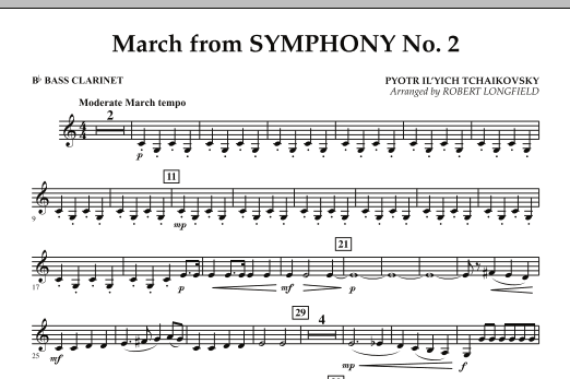 March from Symphony No. 2 - Bb Bass Clarinet (Concert Band)