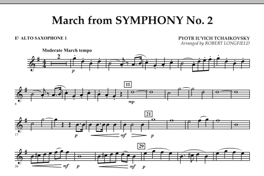 March from Symphony No. 2 - Eb Alto Saxophone 1 (Concert Band)