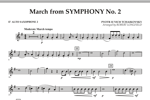 March from Symphony No. 2 - Eb Alto Saxophone 2 (Concert Band)