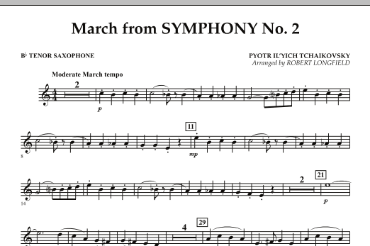 March from Symphony No. 2 - Bb Tenor Saxophone (Concert Band)