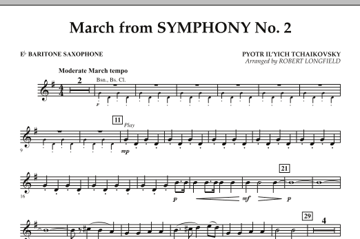 March from Symphony No. 2 - Eb Baritone Saxophone (Concert Band)