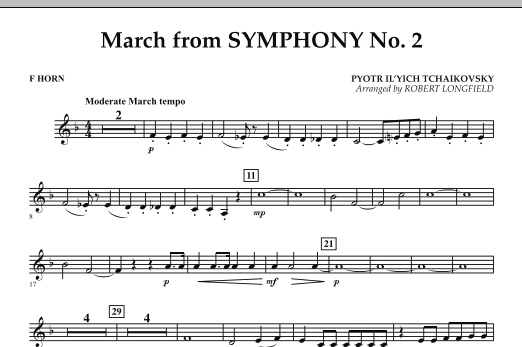 March from Symphony No. 2 - F Horn (Concert Band)