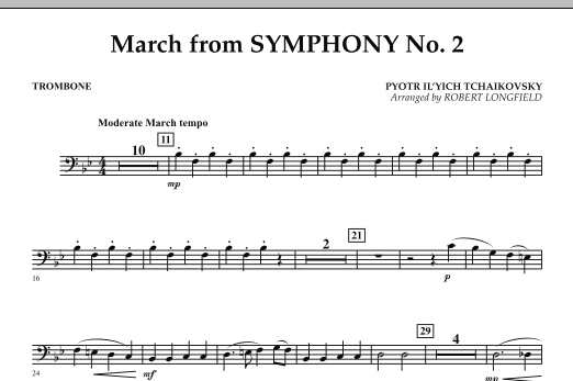 March from Symphony No. 2 - Trombone (Concert Band)