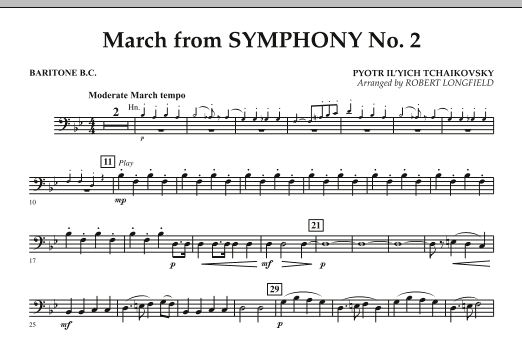 March from Symphony No. 2 - Baritone B.C. (Concert Band)