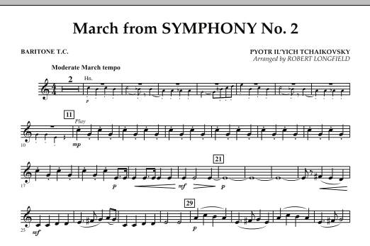 March from Symphony No. 2 - Baritone T.C. (Concert Band)