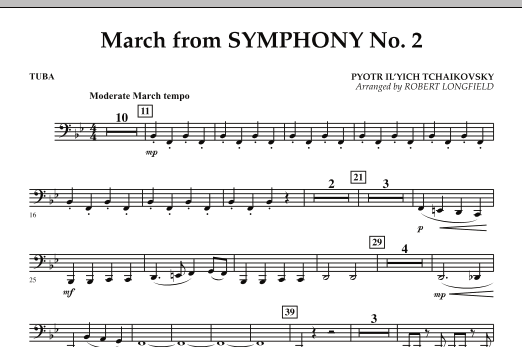 March from Symphony No. 2 - Tuba (Concert Band)